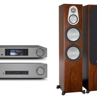 Cambridge Audio CXA81 + CXN v.2 + Monitor Audio Silver 500